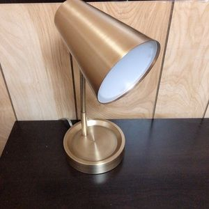 Gold desk light